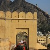 elephants, gates and crazy walls up mountains, Amber Fort, Jaipur