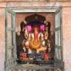 strange little foiled Ganesh shrine, Bundi
