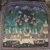 Krishna stealing the milkmaids' blouses, Bundi palace fresco