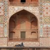 Afternoon snooze, Akbar's Tomb, Agra